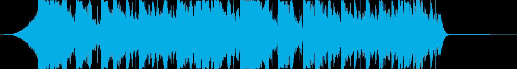 オシャレなピアノ入りTRAPジングルの再生済みの波形