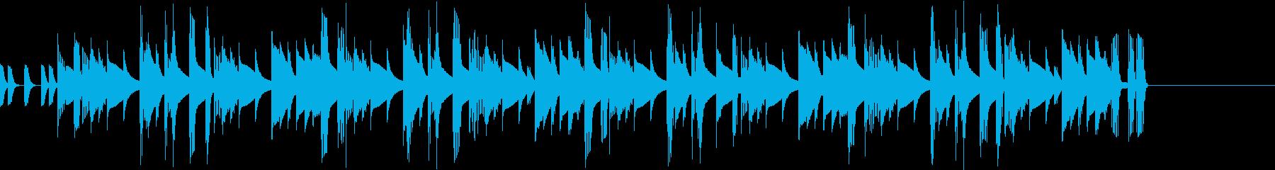 シンセベースとリズムボックス ジングル1の再生済みの波形