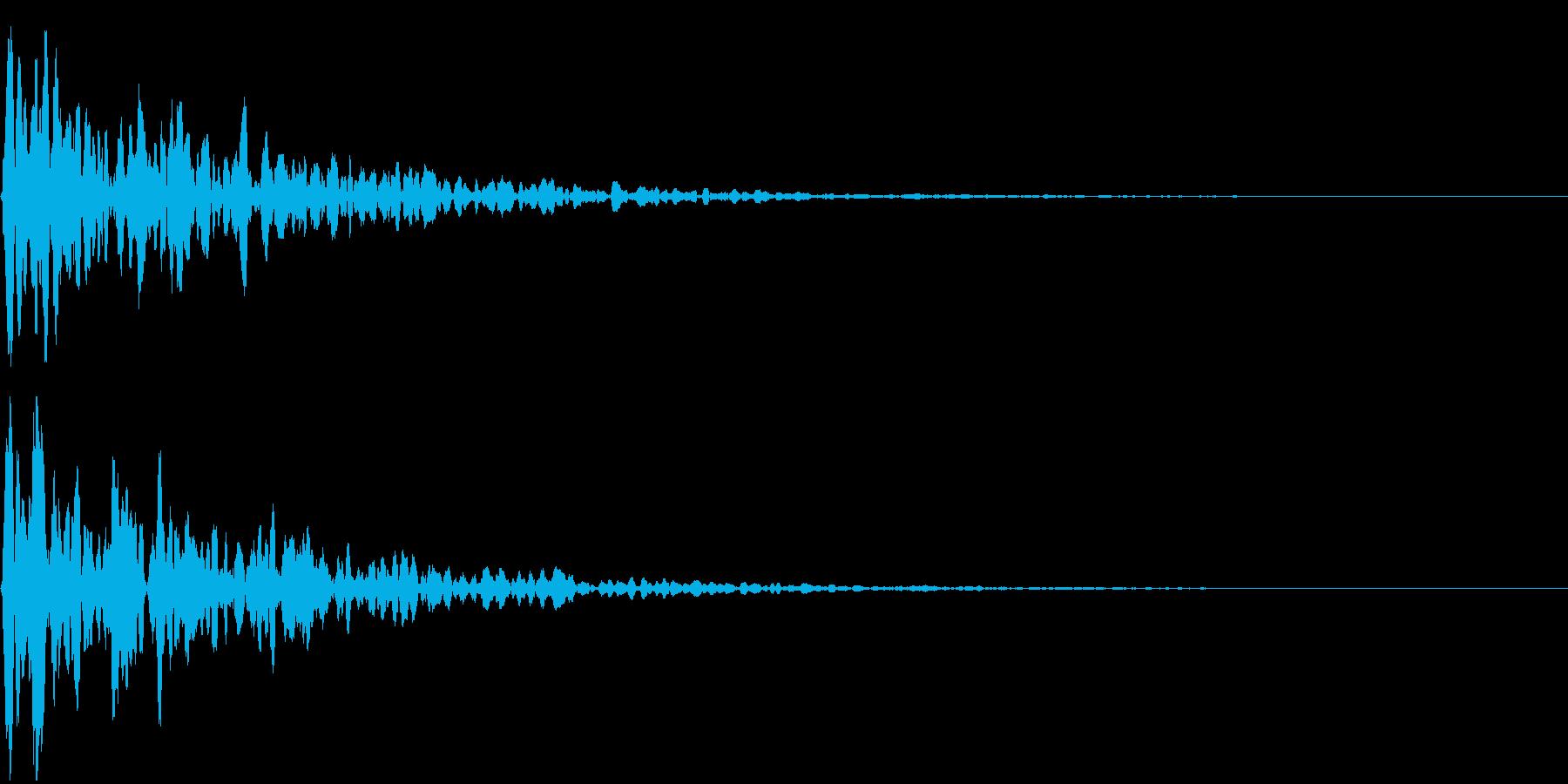 シネマチックな重低音インパクト1・ブーンの再生済みの波形