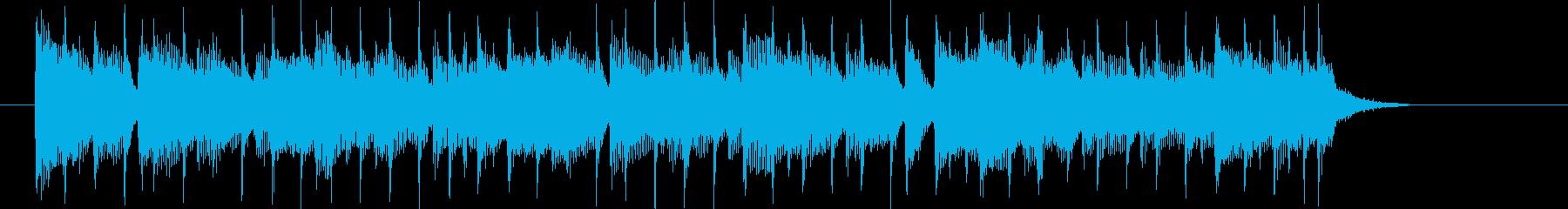 緩やかでリズミカルなシンセジングルの再生済みの波形