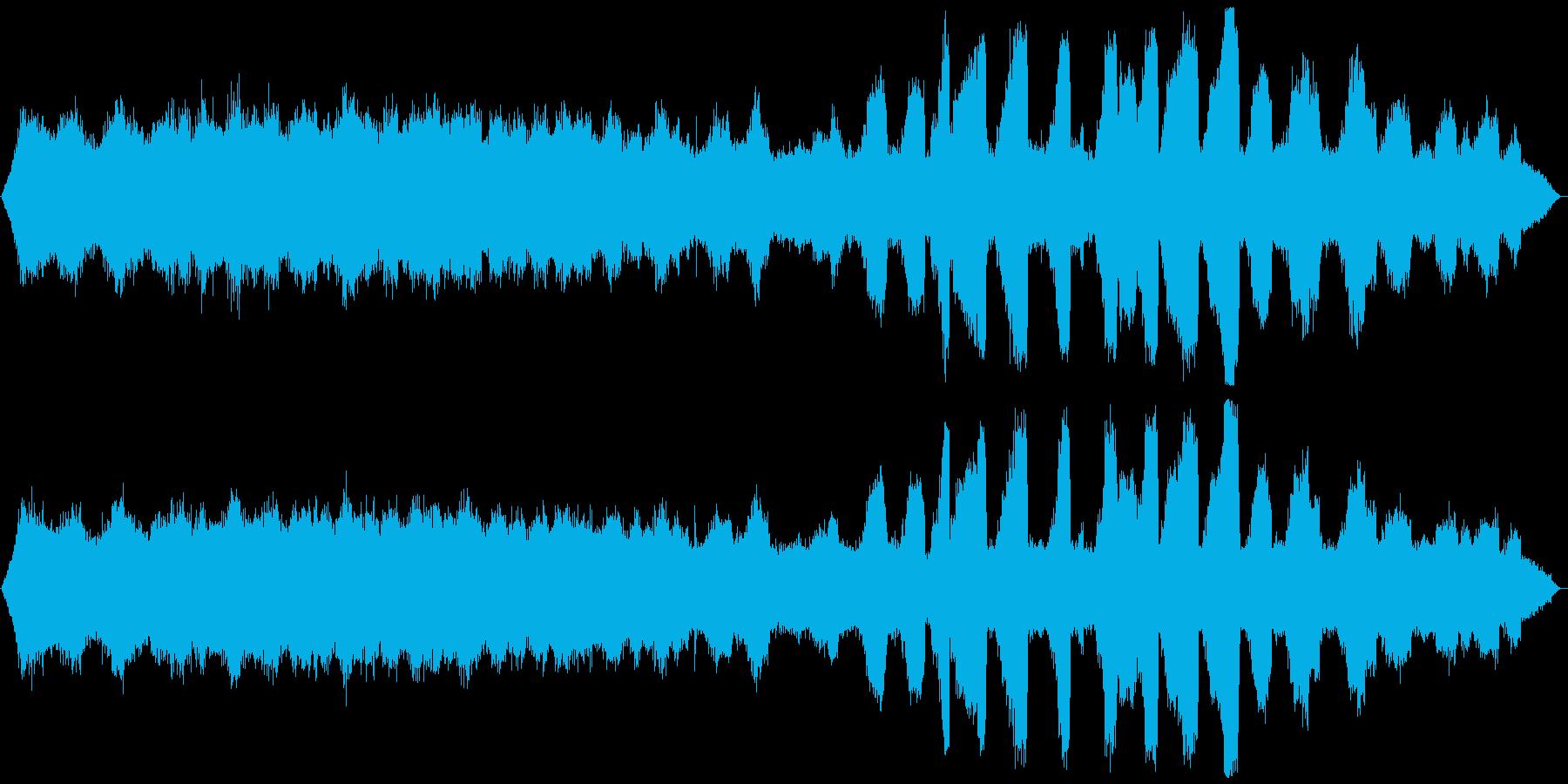 ミーンミーン 北海道の蝉 音景色 その1の再生済みの波形