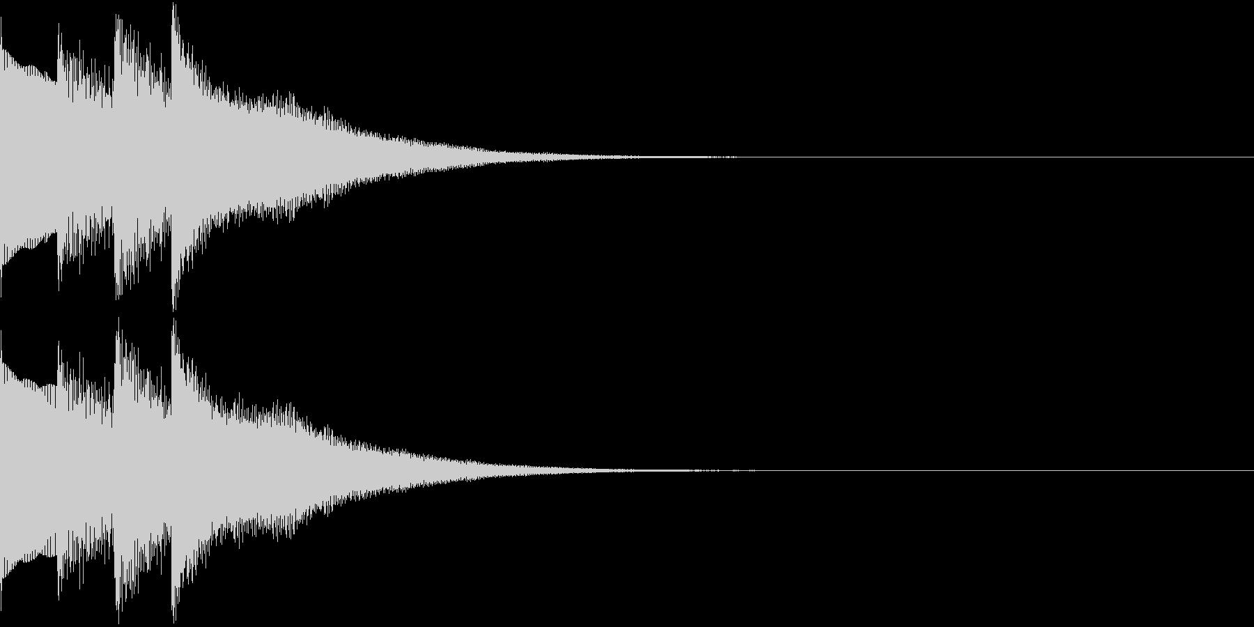 場内 アナウンス シンプル お知らせ 3の未再生の波形