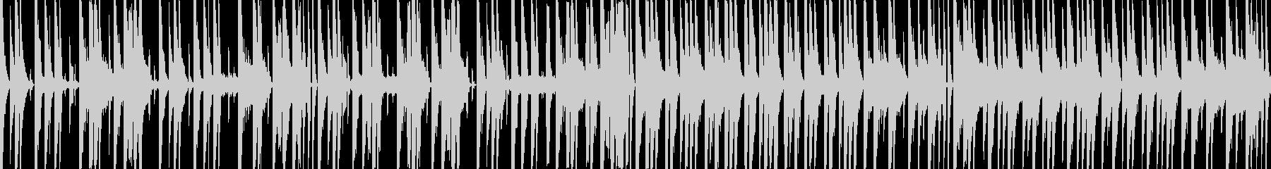 ふざけた感じの色々な音色を使ったBGMの未再生の波形