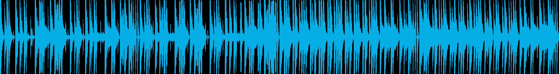 ふざけた感じの色々な音色を使ったBGMの再生済みの波形