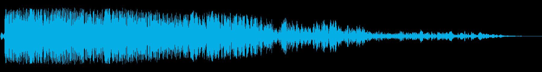 グワワーン(恐怖感の音)の再生済みの波形