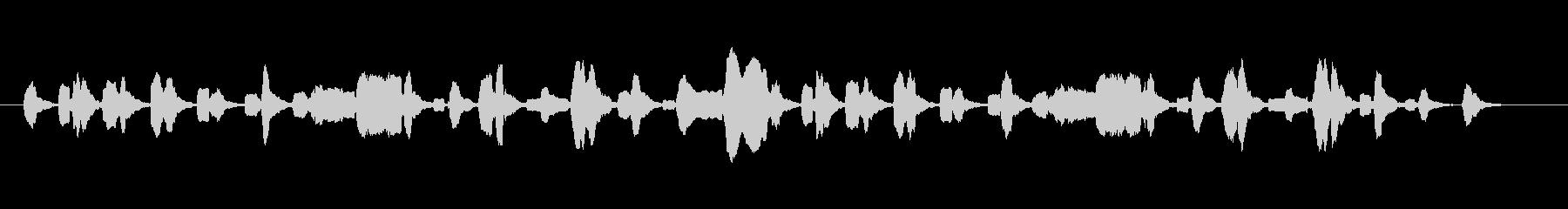 生演奏ほのぼのした雰囲気のリコーダーの未再生の波形