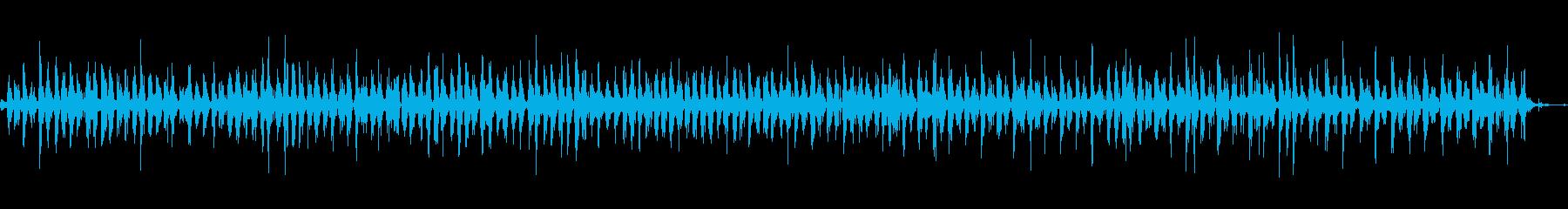 神楽鈴(小)をリズミカルに振る音の再生済みの波形