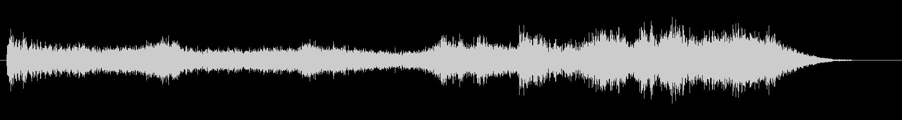 長めのホラー風Pad音の未再生の波形