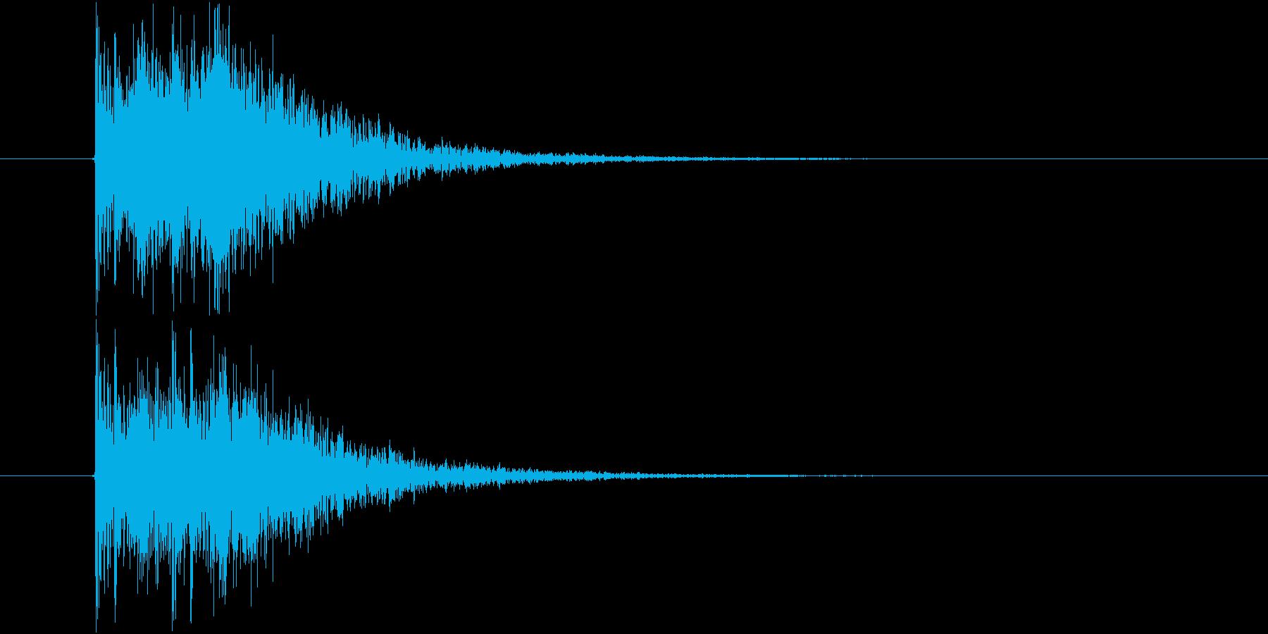 カカン 拍子木 2連打 速めの再生済みの波形