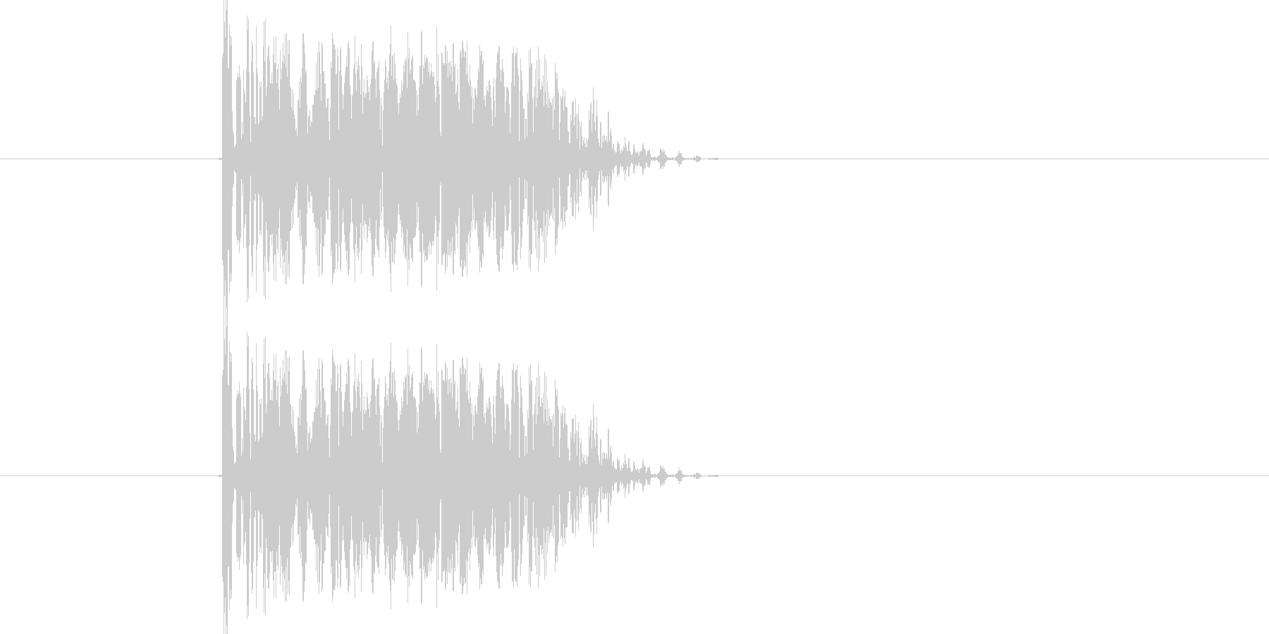 「ビャウ」というレトロなキャンセル音の未再生の波形