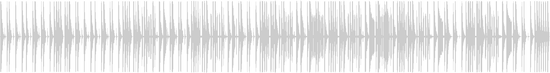 リズムとスクラッチのみのBGMの未再生の波形