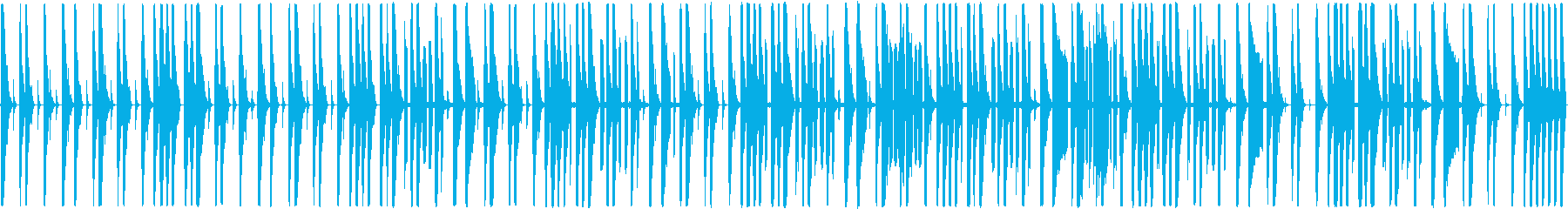 リズムとスクラッチのみのBGMの再生済みの波形