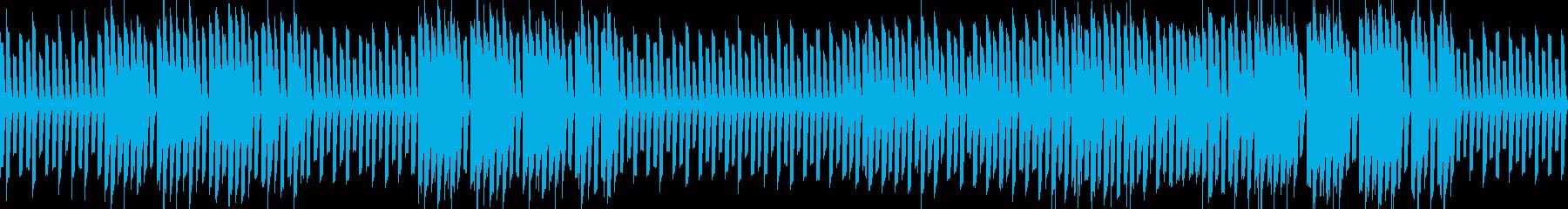 忙しない雰囲気の8bitの再生済みの波形