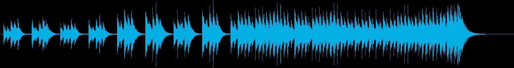 木琴の音色で作った短い曲の再生済みの波形