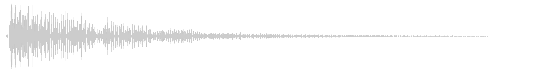 選択肢を決定する際の効果音の未再生の波形