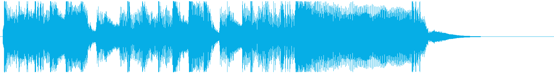 【バンドサウンド】シンプルなジングルの再生済みの波形