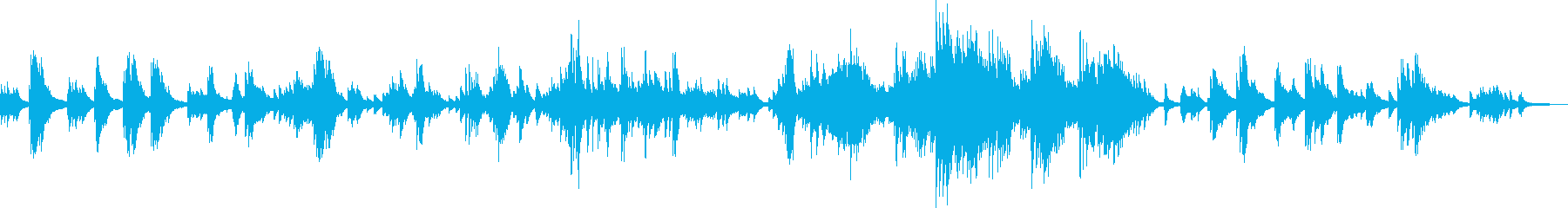 昼ドラで流れてそうな悲しいピアノソロ曲の再生済みの波形