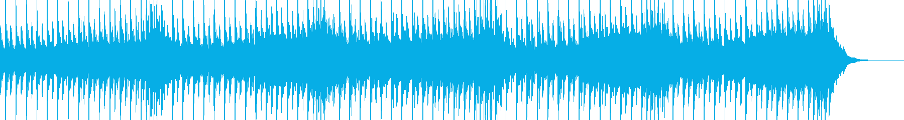 接戦や緊迫感をイメージしたテクノの再生済みの波形