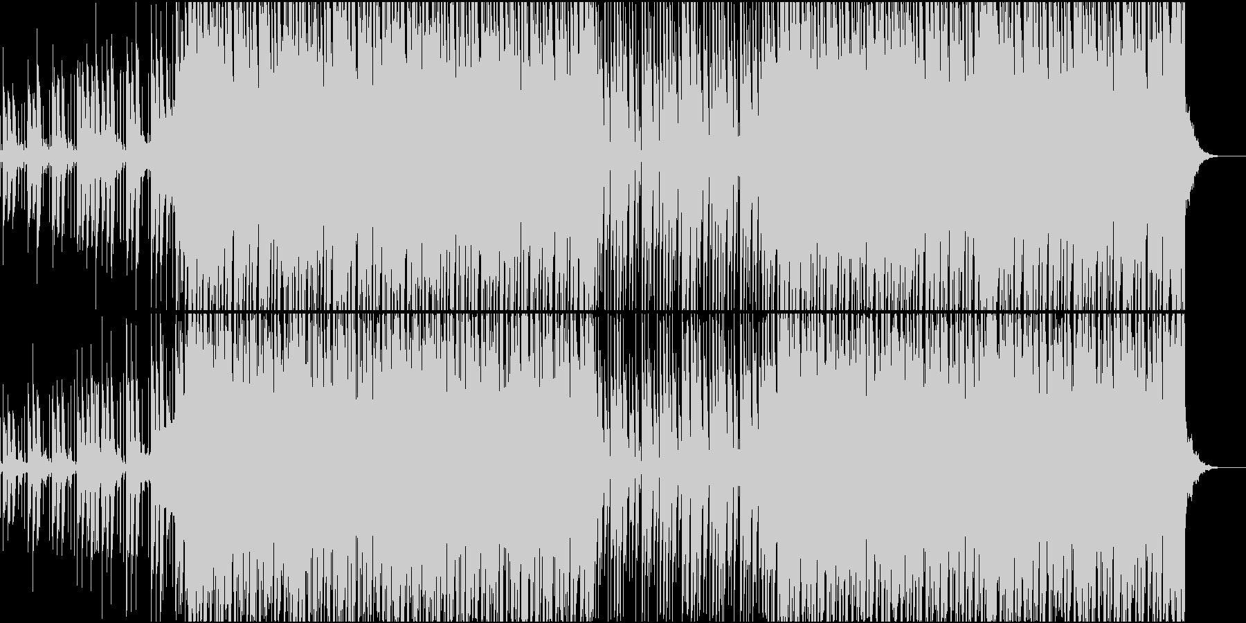 ビートの強いハウスの未再生の波形