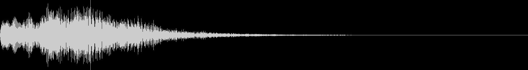 明るいボタン音、決定音の未再生の波形