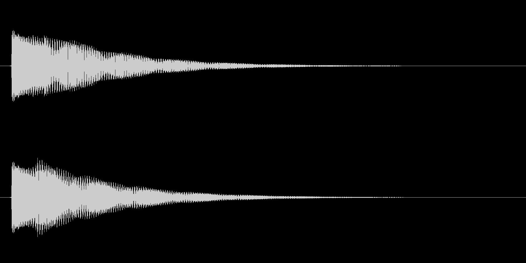 効果音/ジャンプの未再生の波形