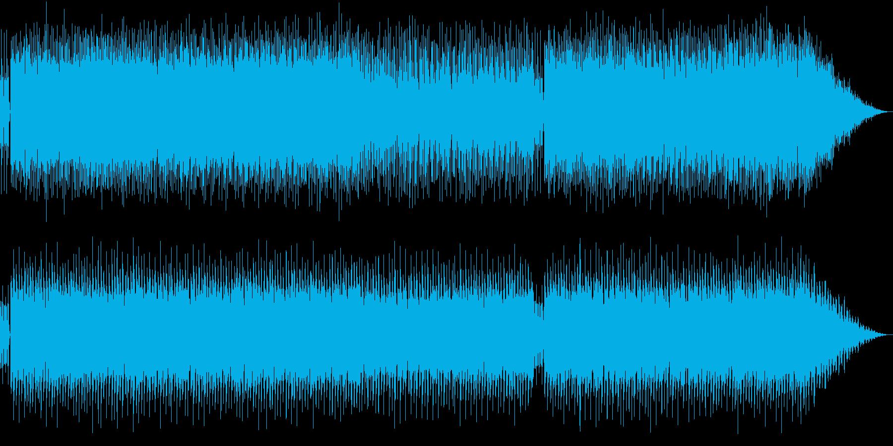 爽やかなイメージを与えるミドルチューンの再生済みの波形