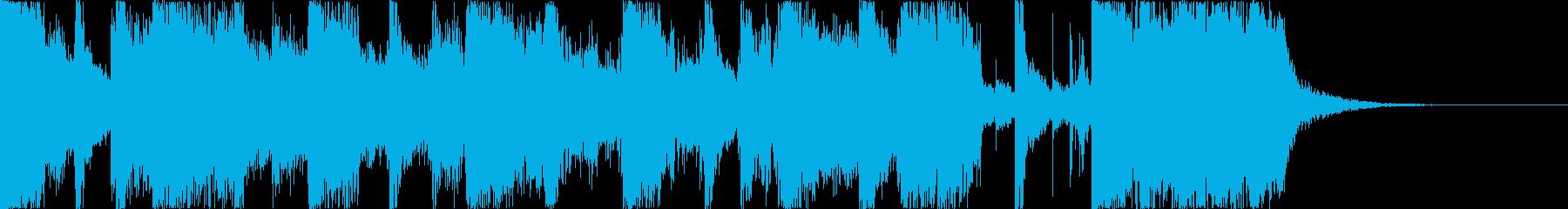エッジの効いたギターの短い曲の再生済みの波形