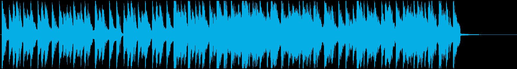 疾走感のあるエレクトロハウスのジングルの再生済みの波形