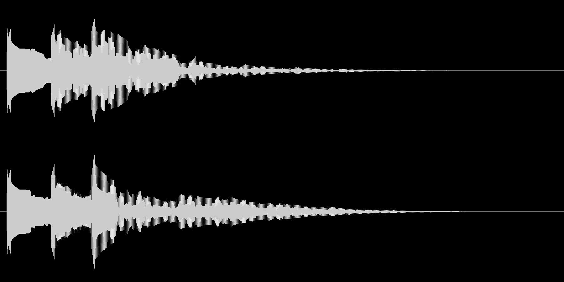 開閉音1の未再生の波形