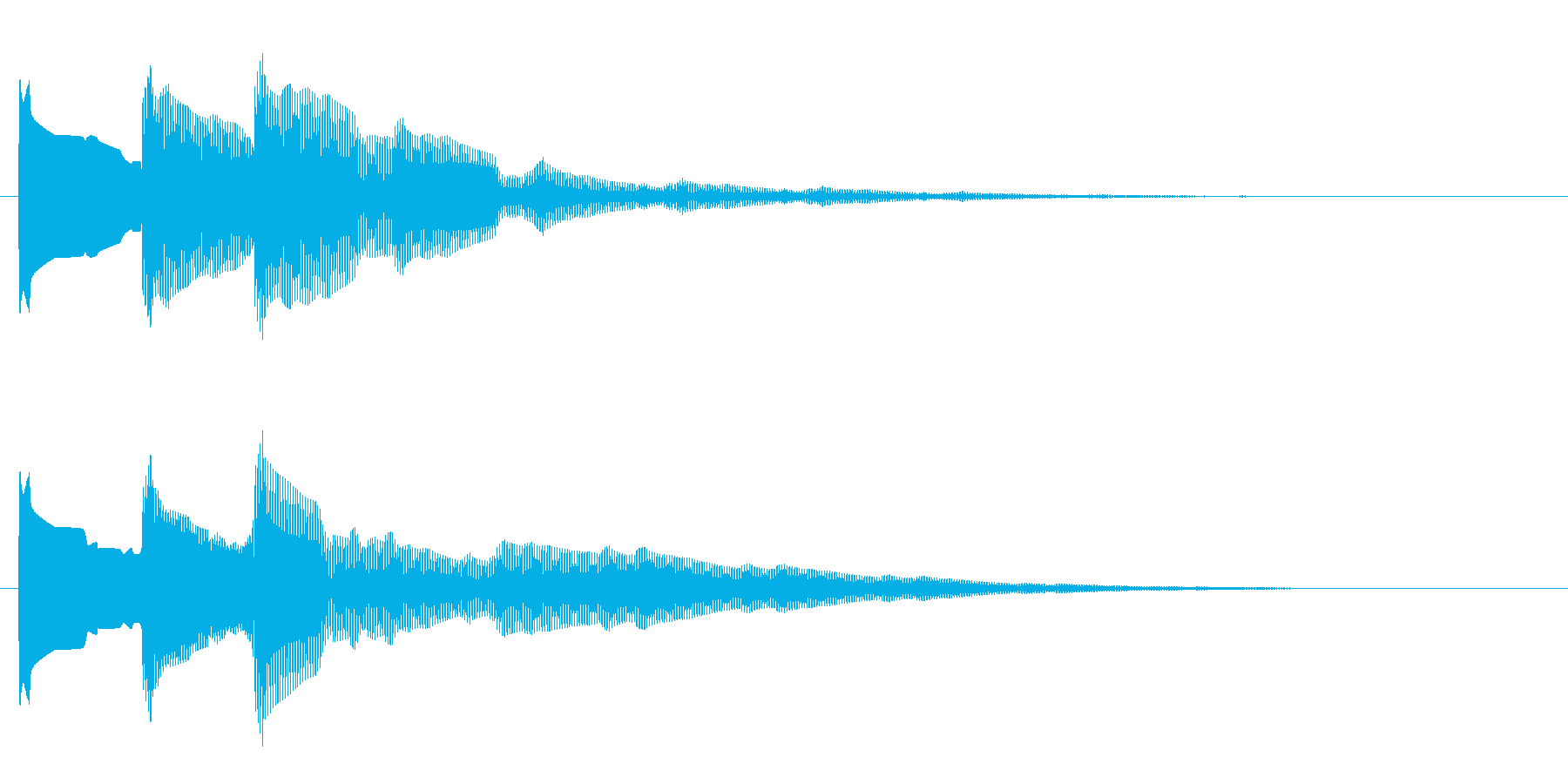 開閉音1の再生済みの波形