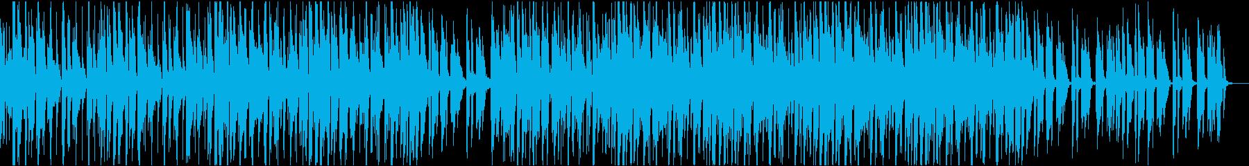 アコースティックなチルビートの再生済みの波形