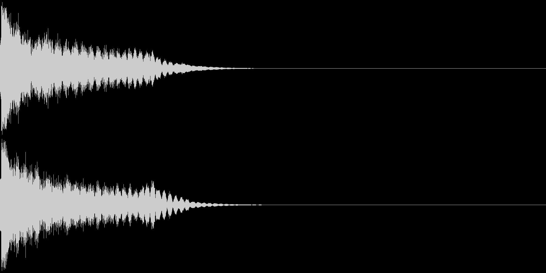 刀 剣 ソード カキーン キュイーン14の未再生の波形