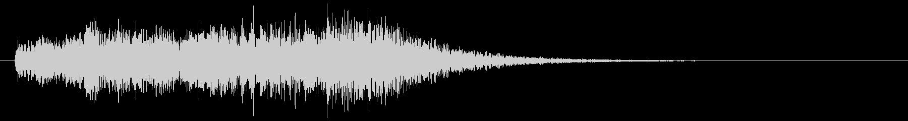 ピアノによる奇妙な場面転換音の未再生の波形