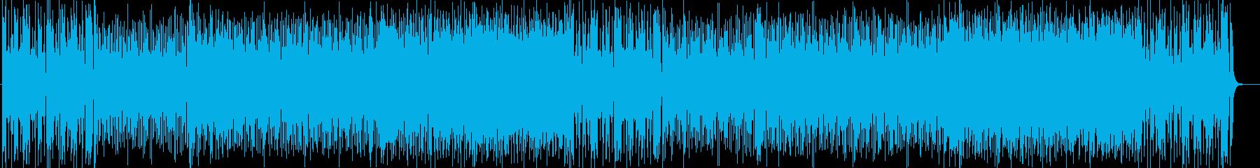 華やかで疾走感のあるシンセサイザー曲の再生済みの波形