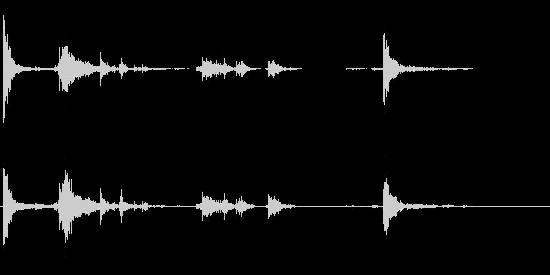 【生録音】お箸の音 33 まとめて片付けの未再生の波形