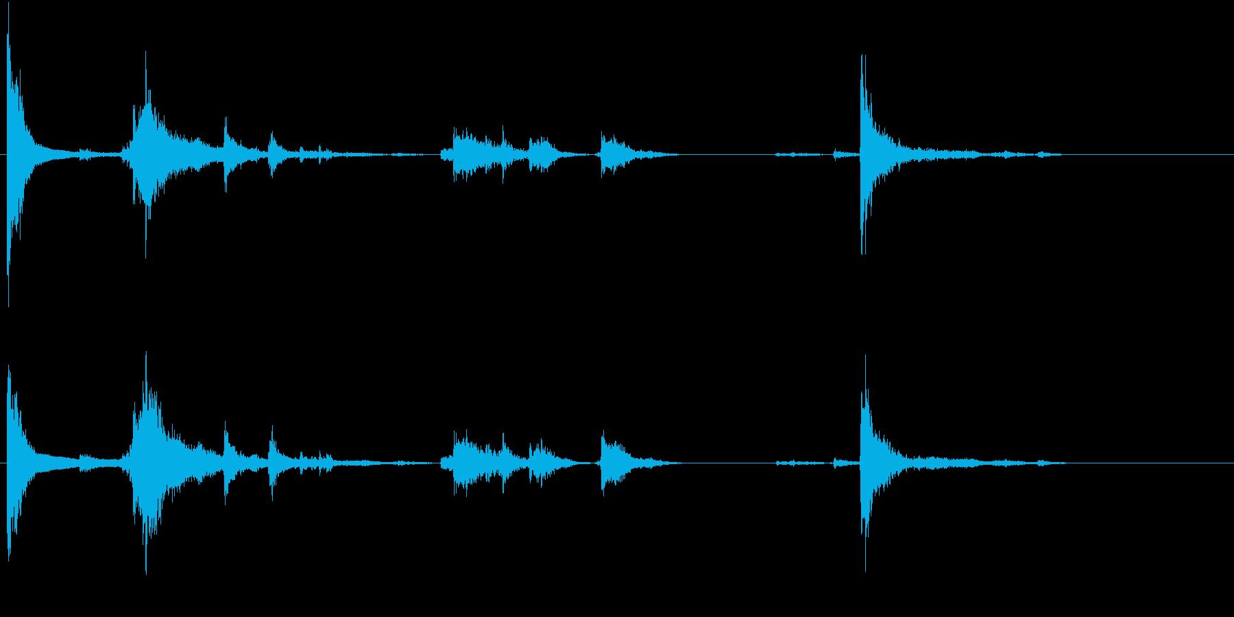 【生録音】お箸の音 33 まとめて片付けの再生済みの波形