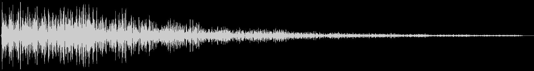 洞窟に響き渡る不吉な音の未再生の波形