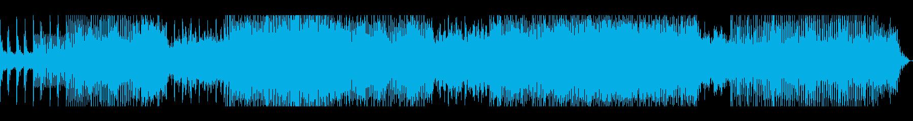 感動的な雰囲気のHOUSE BEATの再生済みの波形