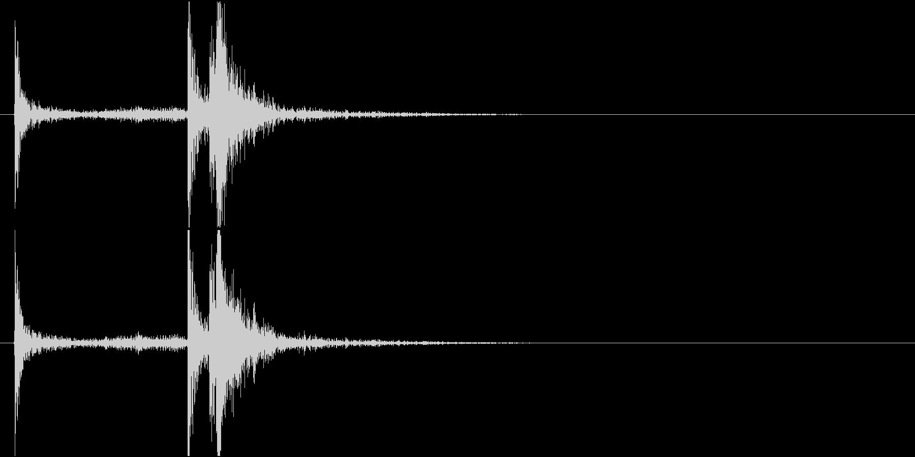 【生録音】 電子レンジを閉める音の未再生の波形