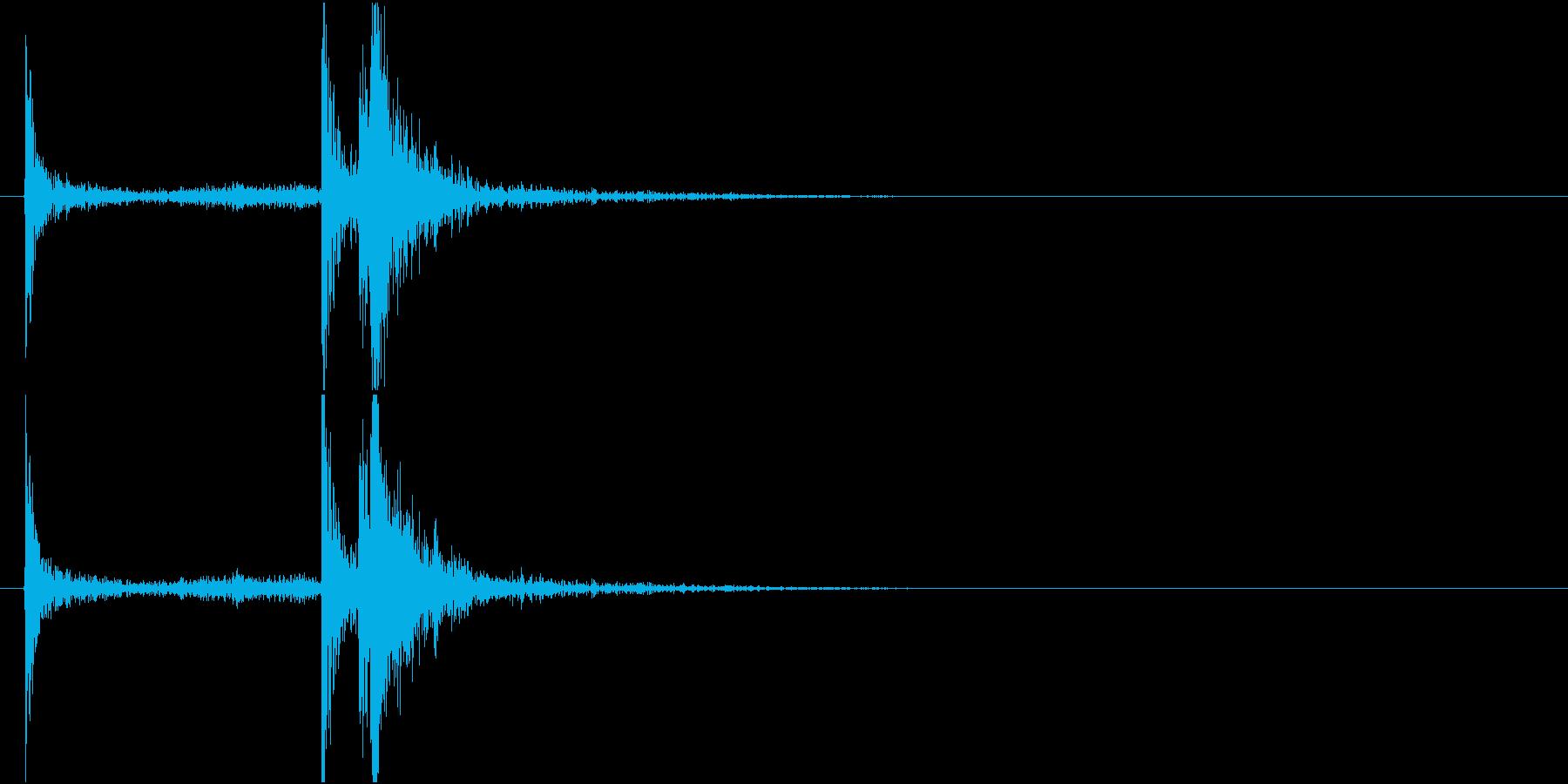 【生録音】 電子レンジを閉める音の再生済みの波形
