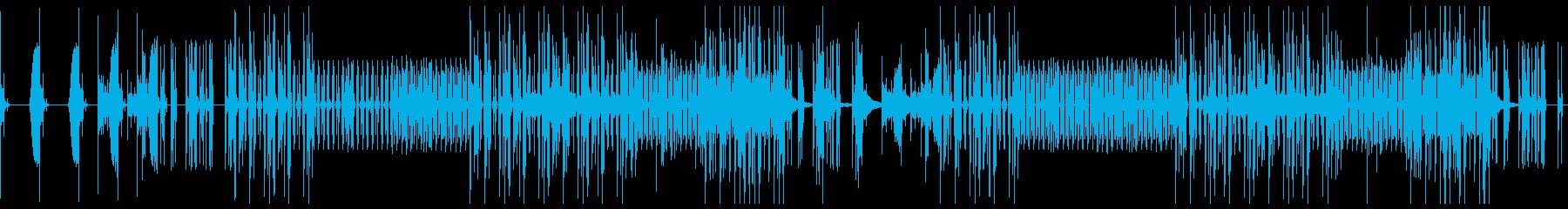 戦闘・又は戦いを予感させる4つ打ち系の曲の再生済みの波形