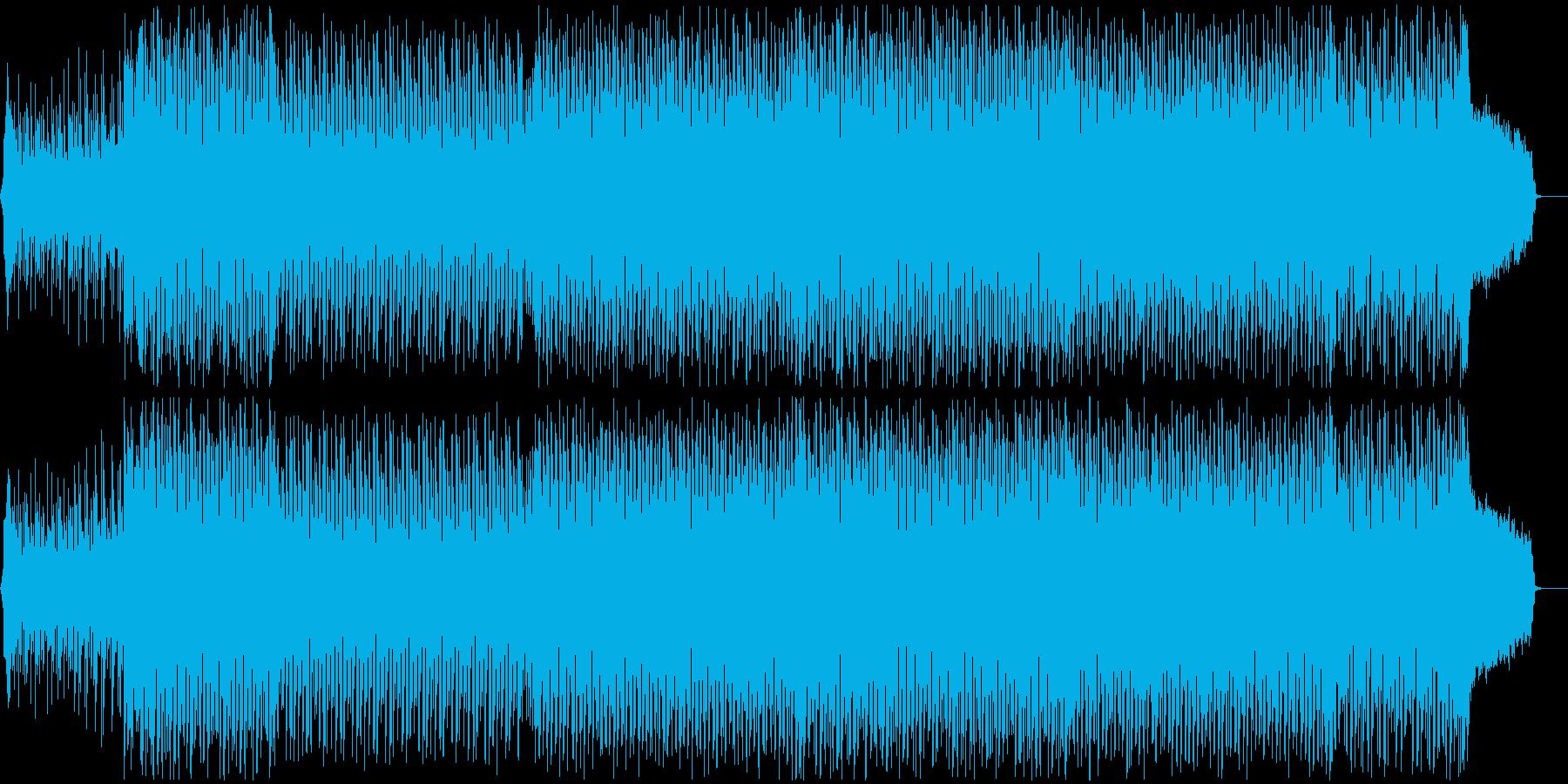 可愛らしいダンスポップ2 声無しの再生済みの波形