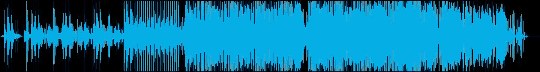 浮遊感のあるシンセサウンドの再生済みの波形