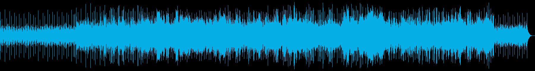 シンセサイザーのムードのある曲の再生済みの波形