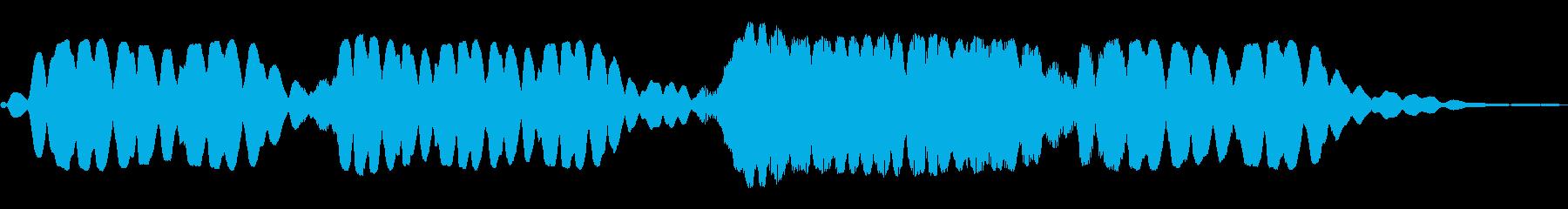 ホワワワーン(幻想的な効果音)の再生済みの波形
