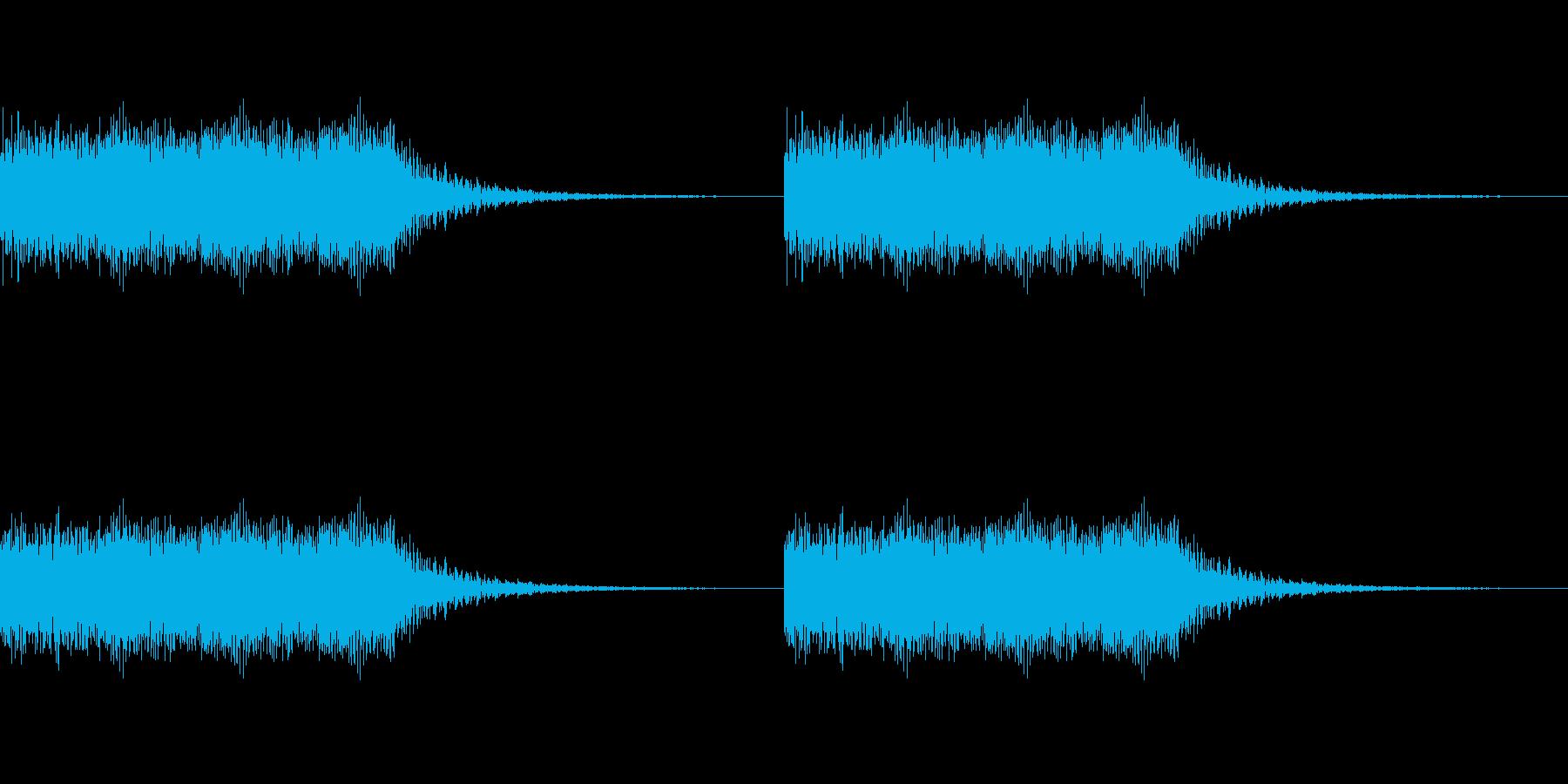 キュイーンキュイーンの再生済みの波形