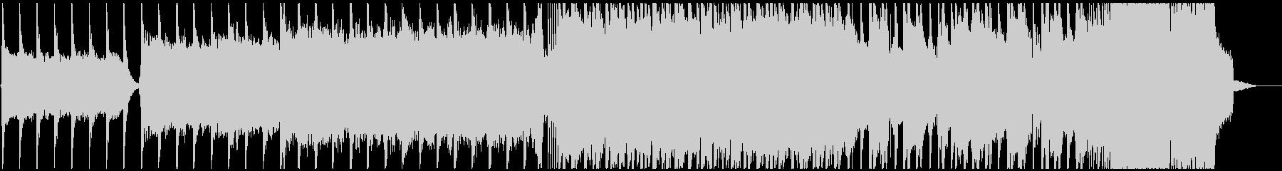 戦闘BGMのメタル曲の未再生の波形