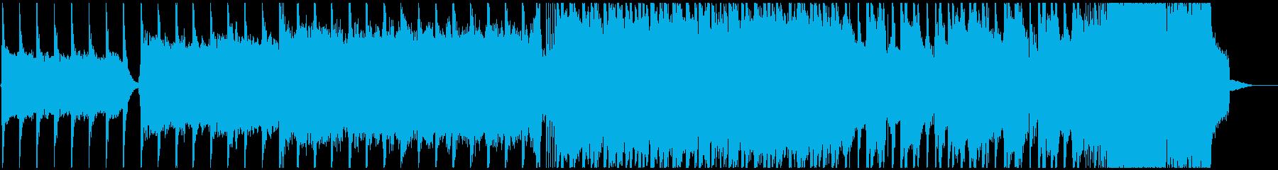 戦闘BGMのメタル曲の再生済みの波形