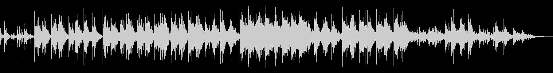 穏やかなアコギBGMの未再生の波形