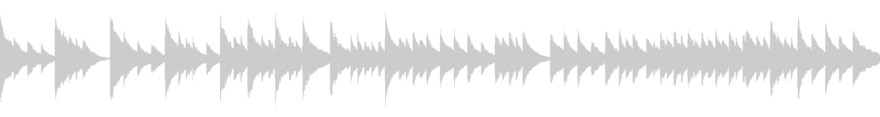 静か穏やか子守唄【ループ】の未再生の波形